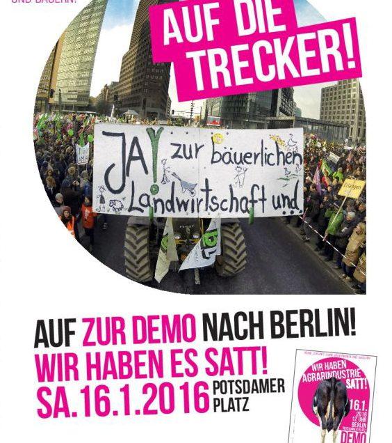 Wir haben es satt – 16.01.16 Demo in Berlin