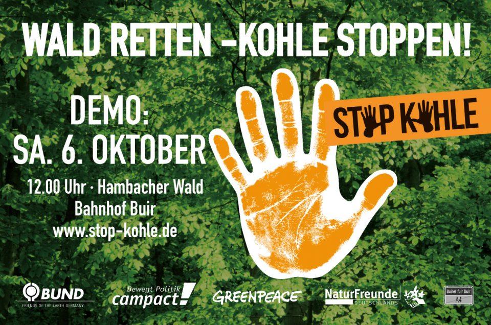 Großdemo Hambacher Forst, Samstag, 06.10.18