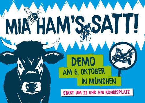 Wir haben es satt – Demo, Samstag, 06.10.18, 11 Uhr