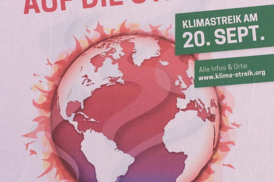 Für die Klimaziele auf die Straße am 20.09.19